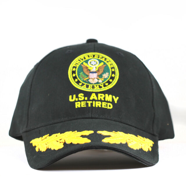 84fbcebeb67 US Army Retired Military Cap With Scrambled Eggs for sale online