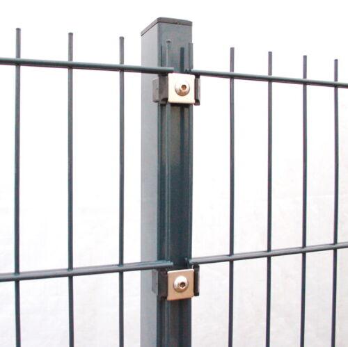 20m Gittermattenzaun Doppelstab 123cm anthrazit Zäune Metallzaun Zaun Stabmatten