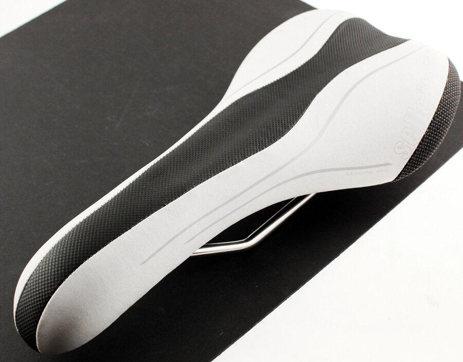 SELLE ITALIA SLR T1 VANOX Rails Gel Road Bike Saddle Weiß Mtb Carbon Fiber NEW