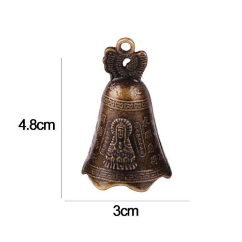 China/'s Mini Brass Copper Sculpture Pray Buddha Feng shui bell 48*30mm Supe D9V4