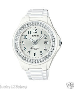 6f8377df5fd LX-500H-7B2 White Casio Ladies Watches Resin Band 50M Analog Date ...