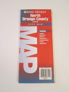 1991-Rand-McNally-North-Orange-County-California-City-Street-Road-Map