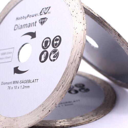 CC 18 3 Stück Diamanttrennscheibe Ø 76 x10 mm für Metabo PowerMaxx CC 12 BL