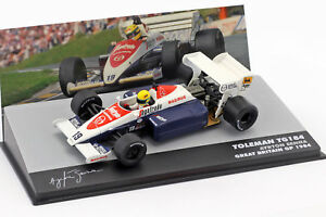 AYRTON-SENNA-TOLEMAN-tg184-19-3rd-Grande-Bretagne-GP-Formule-1-1984-1-43-ALTAYA