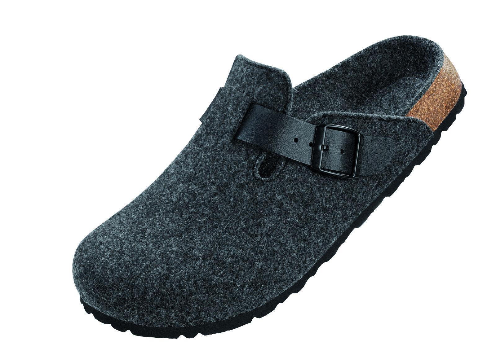 Schuhe BETULA Filzpantolette ROCK 174763, Dunkelgrau, Weichbett, Größen wählbar
