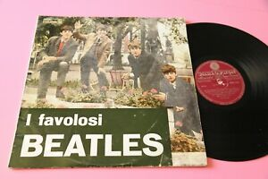 BEATLES-LP-FAVOLOSI-ITALY-1964-MONO-DARK-RED-LABEL-NO-BIEM-LOGO-RARISSIMO