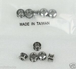 BICYCLE BIKE ALUMINUM 6.5mm SINGLE CHAIN RING CRANK NUTS BOLTS SCREWS 5 SETS RED