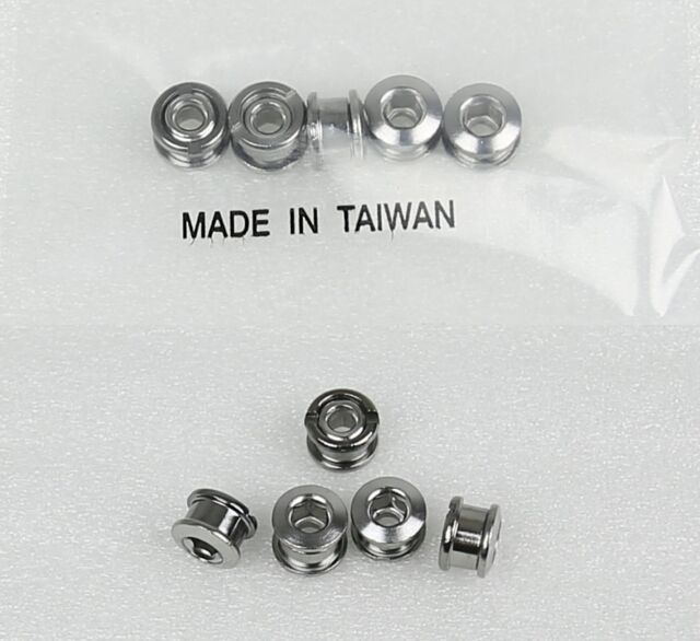 BLACK BICYCLE BIKE STEEL SINGLE CHAIN RING CHAINRING CRANK NUTS BOLTS SCREWS