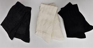 Mezcla-de-lana-Escoces-Kilt-Calcetines-4-7-8-10-11-13-Negro-crudo-carbon-venta