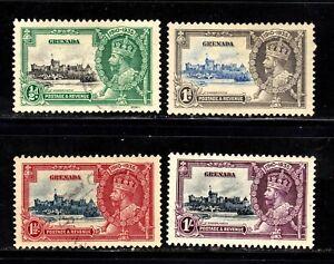 Grenada stamps #124 - 127, mint & used, complete set, SCV $21.00