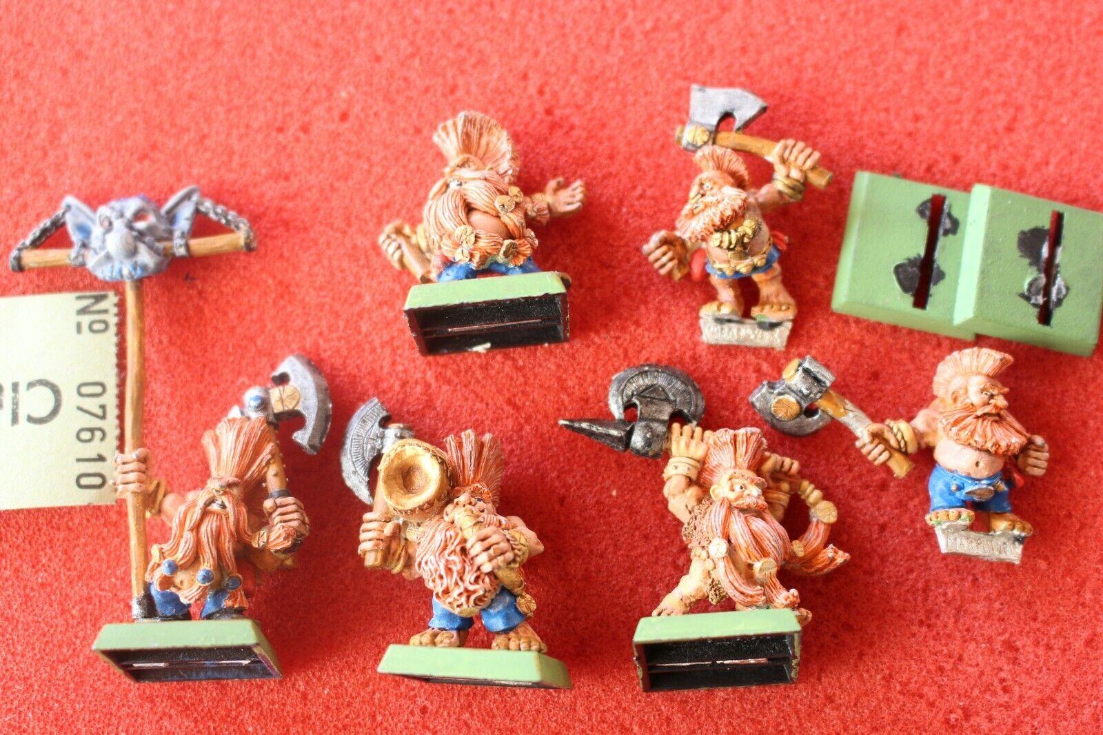 Games Workshop Warhammer Dwarf Trollslayers Troll Slayers Metal Figures Painted