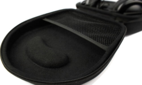 HardCase Transport-Etui robust Schwarz für Philips SHB9850NC Kopfhörer Zubehör