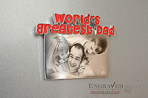 Photo-personalised-engraved-metal-fridge-magnet-unique-gift-FREE-P-amp-P