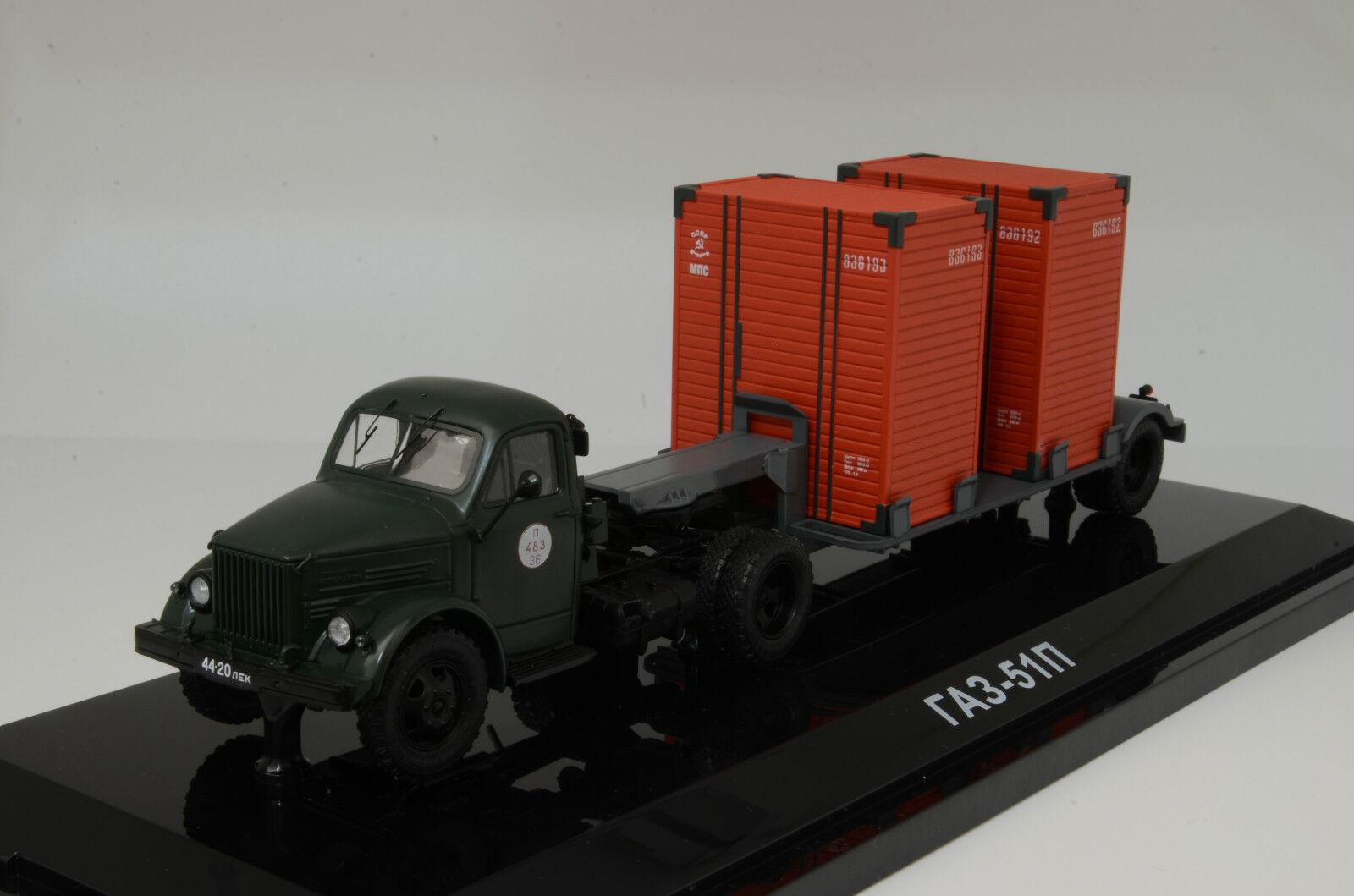 Rare    gaz  51P + remorque T213 russe camion DIP 905103 1983 1 43  en ligne pas cher