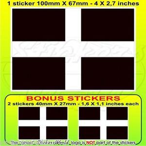 "CHESHIRE County Flag England UK 100mm Vinyl Sticker 4/"" Decal x1+2 BONUS"