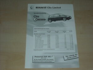 33446-Renault-Clio-B-Limited-Preis-Extra-Prospekt-2001