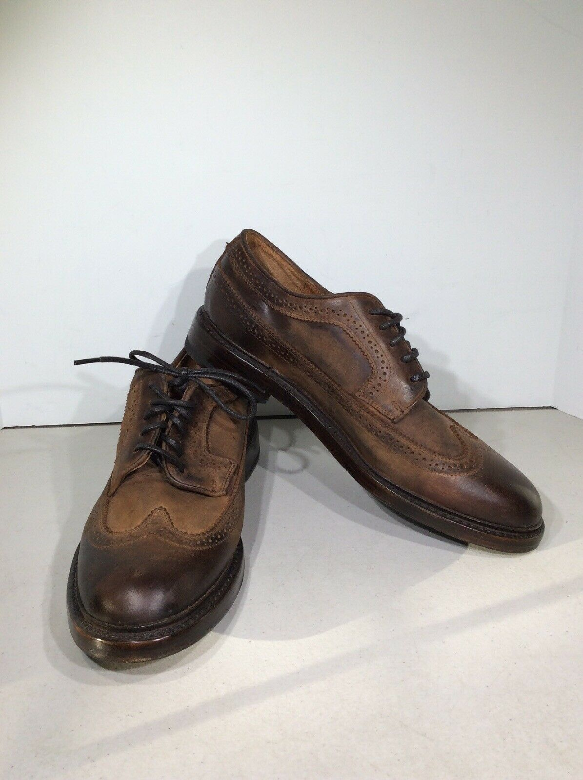 Frye Jones wingtip hombre 8,5d amarre marrón Oxford FW - 420