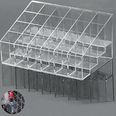 Clear Acrylic 24 Lipstick Holder Display Stand Cosmetic Makeup Case Storage OT8G