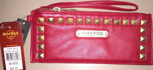 Hard-Rock-Cafe-STUDDED-WALLET-Ladies-Red-Leather-with-Gold-Studs-NEW-with-TAGS