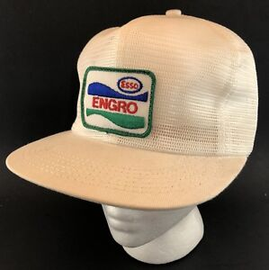Vtg Esso Engro Fertilizer Full Mesh Trucker Hat Snapback Patch Cap K ... ce6d08df4edf