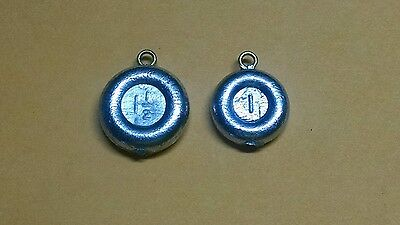 50ct 1 1//2 oz SURF FISHING SINKERS #1 Brass Eyelet RIVER DISC COIN