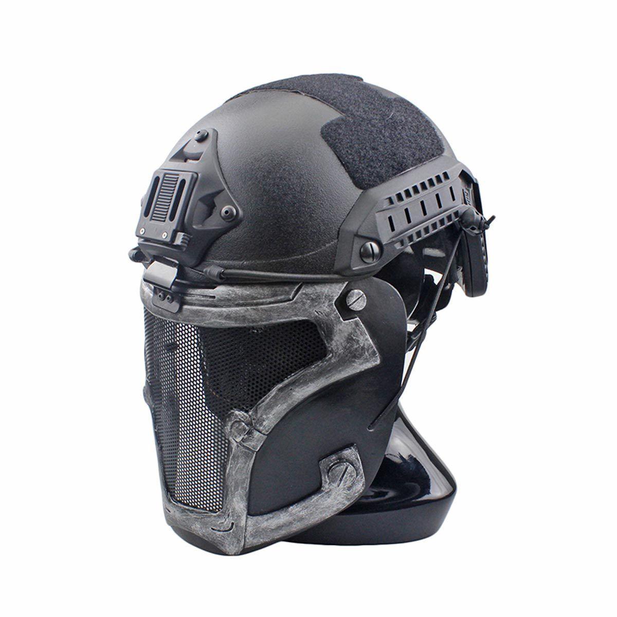 NEW Wire Mesh Glass Fiber Resin Airsoft CS Half Face Mask For Helmet M133