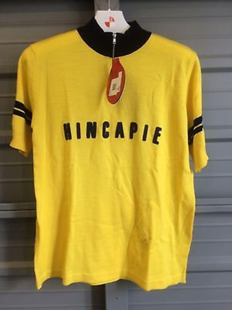 Hincapie Vintage Jaune Maillot Jaune Vintage Grand Neuf W/Faille HOMMES L Cyclisme Laine 968fc3