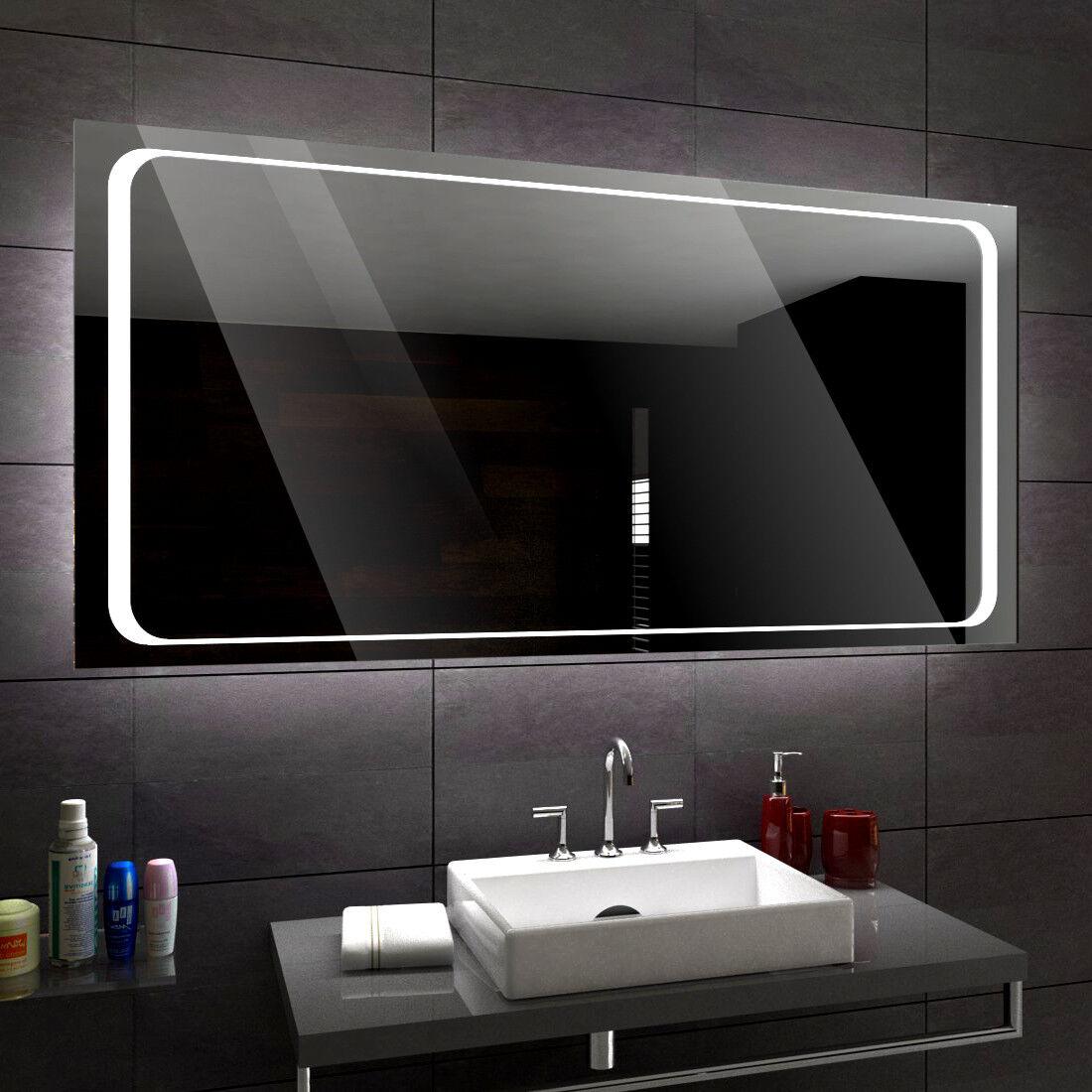BARCELONE éclairé del Miroir salle de Bain Led personnalisé Größe versions