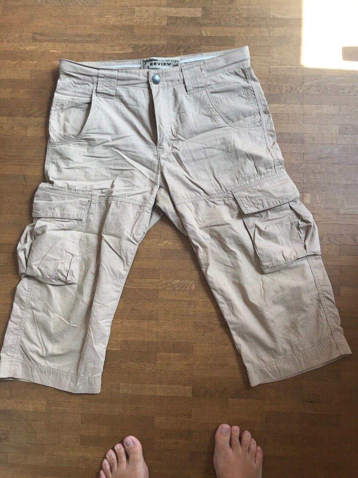 Beige Review Shorts M Bundweite 45 cm