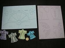2 Keepsake Glitter Girls Card Embellisher ORIENTAL Embossing Boards + 3D KIMONOS