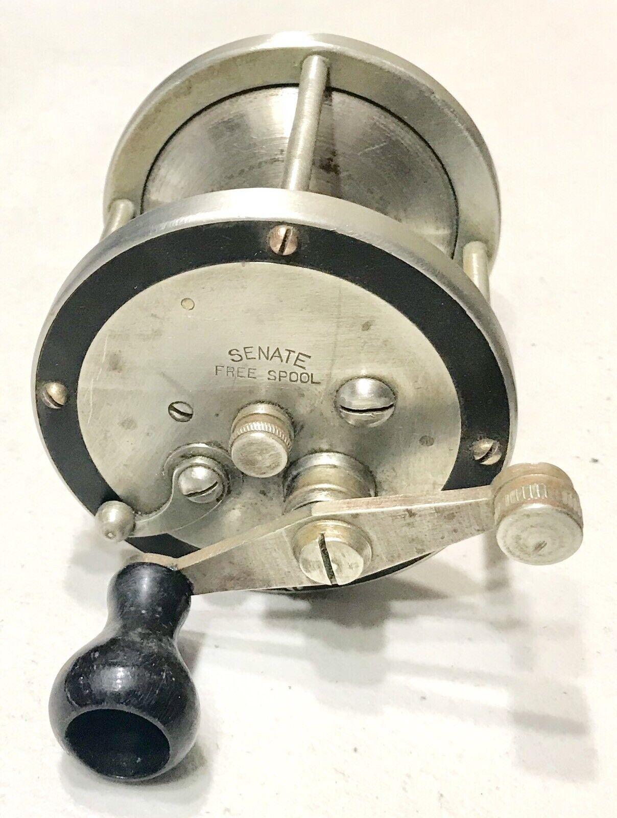Rare Vintage Antique Estate Early Senate 250 USA Cast Fishing Reel Spool Old
