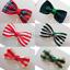Christmas Ribbon Mini Bow Ties Tartan Stripes Gingham Red and Green 3cm x 15cm