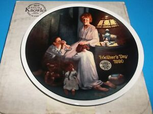 NORMAN-ROCKWELL-PLATE-034-MOTHER-039-S-DAY-1990-EVENING-PRAYERS-034-NIB