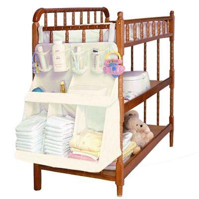 Baby Crib Waterproof Diaper Organizer Nursery Bed Storage Bag Kids Toys Clothes