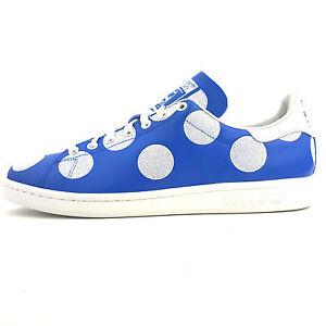 Adidas-Stan-Smith-Bpd-Pharell-Williams-Herren-Damen-Sneaker-Schuhe-Blau-B25398