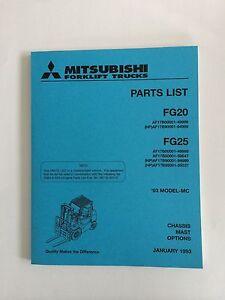 mitsubshi forklift parts manual fg20 and fg25 ebay rh ebay com