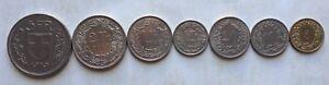 Switzerland set coins - 7 pcs