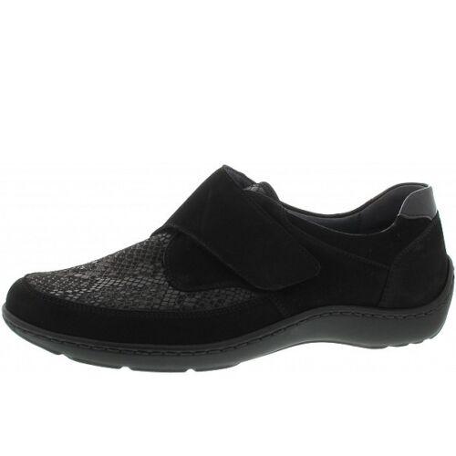 extensibles Chaussures Wide cuir noirnubuck Combi en Fit Waldlaufer 496h31 PiuXkZ