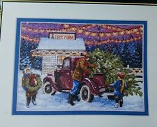 Dimensions Gold Collection Petites Cross Stitch Kit Holiday Tree Farm Rare