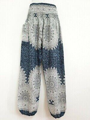 Ladies Harem Pants Baggy Bohemian Boho Hippie Aladdin Yoga Genie Trousers HTDF