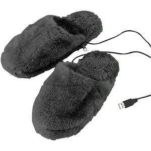 Diplomatisch Deluxe-plüsch-pantoffeln Mit Usb-wärmesohle Fussheizung Wärmekissen Größe 40-46 Ein Kunststoffkoffer Ist FüR Die Sichere Lagerung Kompartimentiert