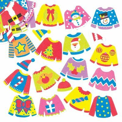 12 FOAM CHRISTMAS HEDGEHOG STICKERS CHILDREN/'S CRAFTS//CARD MAKING//SCRAPBOOKING