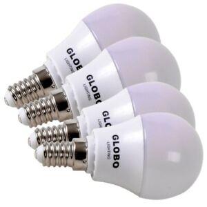 LED-Set-4x-E14-Ampoule-Poires-Balle-Form-Briller-198lm-3000K-Couleur-Blanc-Chaud