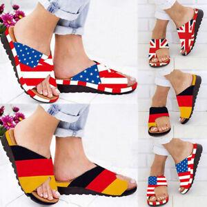 Women-Comfy-Platform-Low-Wedge-Heels-Sandals-Shoes-Toe-Ring-Slippers-Flip-Flops