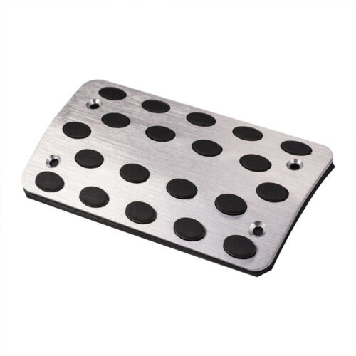 Universal AT Pedals Pads Silver Tone Car Gas Brake Metal Pedal Non-Slip Covers