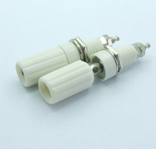 20PCS White Binding Post 4mm JACK for Speaker Banana Plug Test probe Conversion