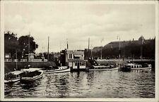 Amsterdam Niederlande Nederland 1938 Wasser Taxi Station Damrak Anleger Schiffe