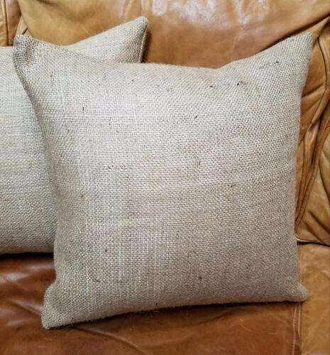 Natural Burlap Pillow Cover FREE SHIP