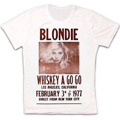 Whiskey A Go Go Blondie Poster 70s Retro T Shirt 30