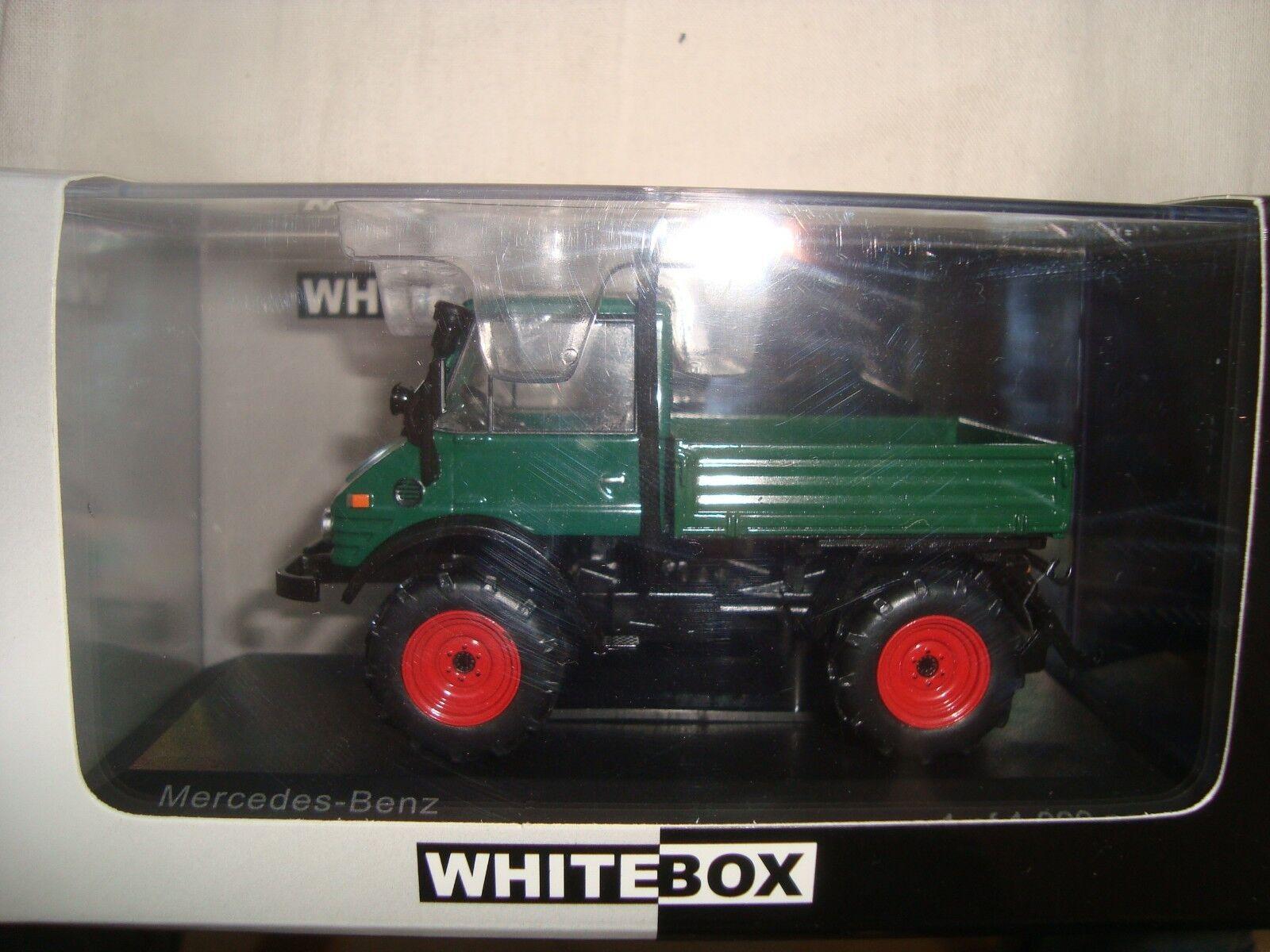 Miniature Whitebox - Mercedes Hunimog 406 1977 - 1 43 en boite plexi